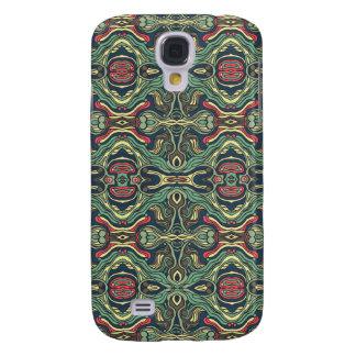 Funda Para Samsung Galaxy S4 Diseño rizado dibujado mano colorida abstracta del