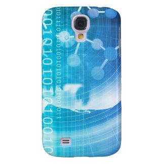 Funda Para Samsung Galaxy S4 Fondo de la molécula como concepto del extracto de