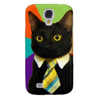 Funda Para Samsung Galaxy S4 gato del negocio - gato negro