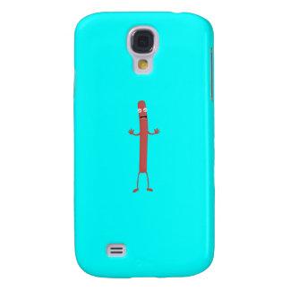 Funda Para Samsung Galaxy S4 Individuo de risa Q1Q de la salchicha
