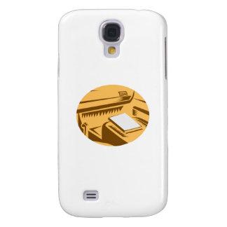 Funda Para Samsung Galaxy S4 Libro en el círculo Woodc de Point of View del