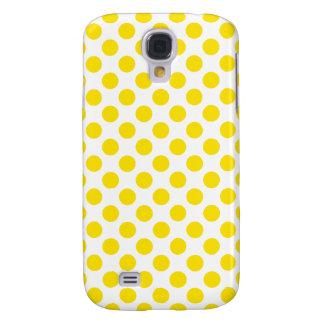 Funda Para Samsung Galaxy S4 Lunares amarillos