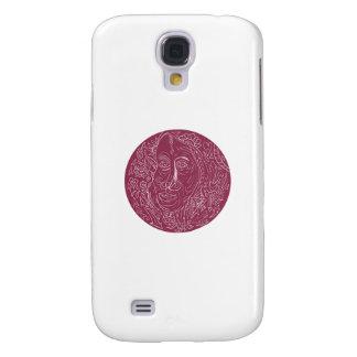 Funda Para Samsung Galaxy S4 Mandala del círculo de la cara de la mujer mayor