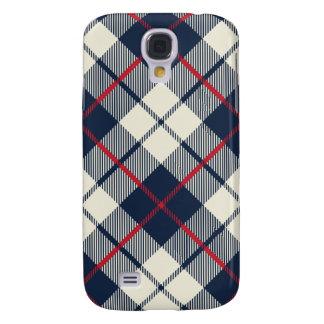 Funda Para Samsung Galaxy S4 Modelo de la tela escocesa de los azules marinos