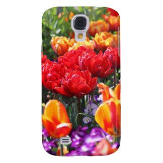 Funda Para Samsung Galaxy S4 Ondas florales del carmesí de Falln