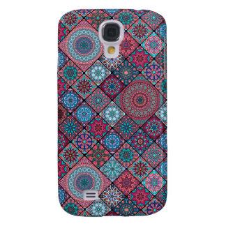 Funda Para Samsung Galaxy S4 Remiendo del vintage con los elementos florales de
