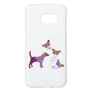 Funda Para Samsung Galaxy S7 Beagle y mariposas