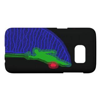 Funda Para Samsung Galaxy S7 Caja azul y verde del esquiador del agua de