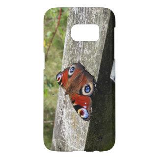 Funda Para Samsung Galaxy S7 Caja de la galaxia S7 de la mariposa de pavo real