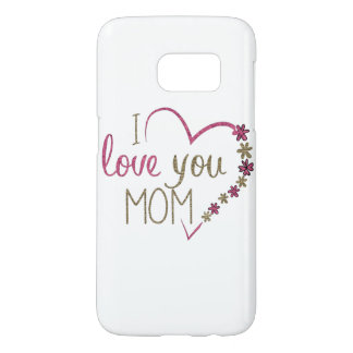 Funda Para Samsung Galaxy S7 Corazón del día de madres de la mamá del amor
