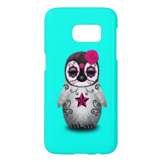 Funda Para Samsung Galaxy S7 Día rosado del pingüino muerto del bebé