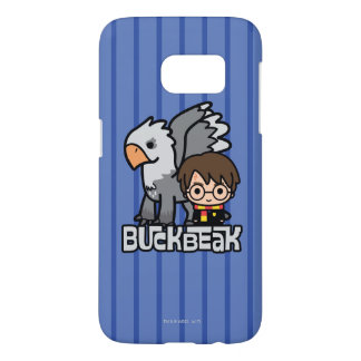 Funda Para Samsung Galaxy S7 Dibujo animado Harry Potter y Buckbeak