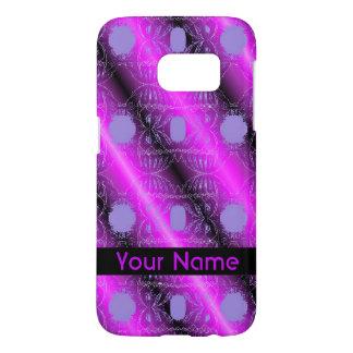 Funda Para Samsung Galaxy S7 Diseño abstracto negro púrpura rosado