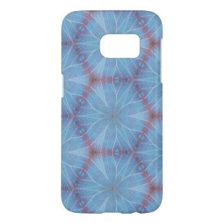 Funda Para Samsung Galaxy S7 Diseño azul de Caleidoscopic del ala de la