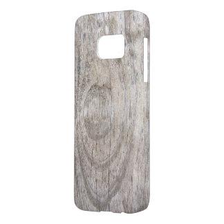Funda Para Samsung Galaxy S7 diseño de madera resistido