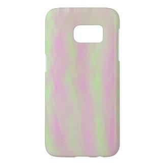 Funda Para Samsung Galaxy S7 El cepillo del rosa/del verde pintó la caja del