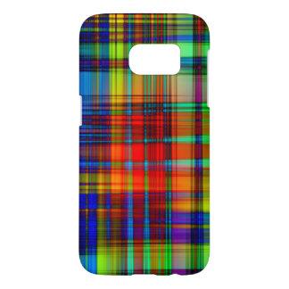 Funda Para Samsung Galaxy S7 El extracto colorido raya arte