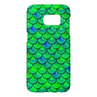Funda Para Samsung Galaxy S7 Escalas azulverdes de Falln