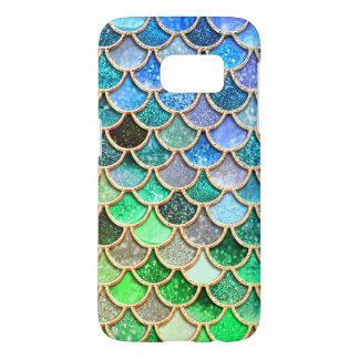 Funda Para Samsung Galaxy S7 Escalas brillantes azulverdes de la sirena del