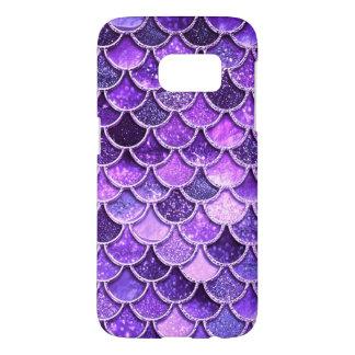Funda Para Samsung Galaxy S7 Escalas ultravioletas de la sirena del purpurina