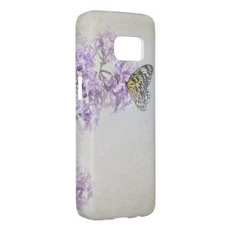 Funda Para Samsung Galaxy S7 mariposa en lilas