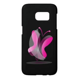 Funda Para Samsung Galaxy S7 mariposa rosada