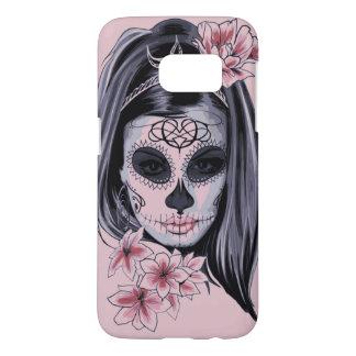 Funda Para Samsung Galaxy S7 Máscara del esqueleto de la mujer