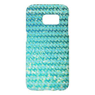 Funda Para Samsung Galaxy S7 Modelo de ondas azul de la sirena del océano de la