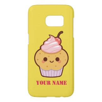 Funda Para Samsung Galaxy S7 Monograma dulce del nombre de la magdalena del