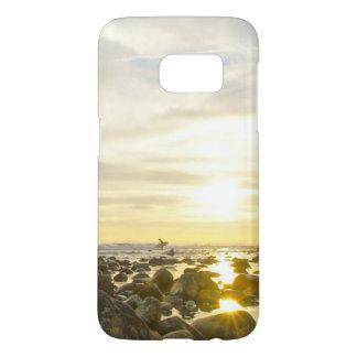 Funda Para Samsung Galaxy S7 Persona que practica surf solitaria