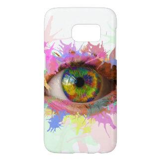 Funda Para Samsung Galaxy S7 Pinte la caja del ojo (galaxia S7 de Samsung)