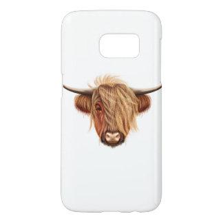 Funda Para Samsung Galaxy S7 Retrato ilustrado del ganado de la montaña