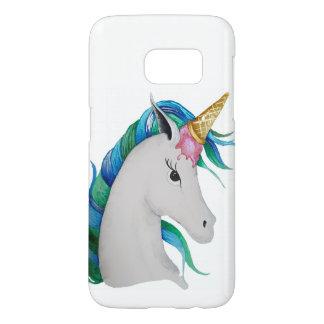 Funda Para Samsung Galaxy S7 unicornio del helado del Uni-cono