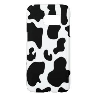 Funda Para Samsung Galaxy S7 Vaca blanco y negro