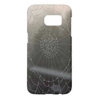 Funda Para Samsung Galaxy S7 Web de araña con rocío de la mañana