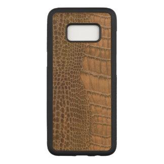 Funda Para Samsung Galaxy S8 De Carved Animal de imitación del vegano del cocodrilo de