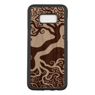 Funda Para Samsung Galaxy S8+ De Carved Árbol de madera de Yin Yang
