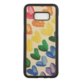 Funda Para Samsung Galaxy S8+ De Carved Arco iris del amor - corazones pintados a mano