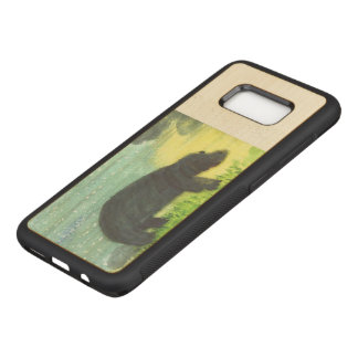 Funda Para Samsung Galaxy S8 De Carved Arte del animal de la fauna del Hippopotamus