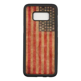 Funda Para Samsung Galaxy S8 De Carved Bandera americana envejecida