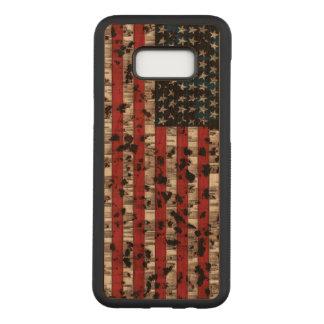 Funda Para Samsung Galaxy S8+ De Carved Bandera americana envejecida