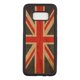 Funda Para Samsung Galaxy S8 De Carved BANDERA de Union Jack Reino Unido del Grunge del