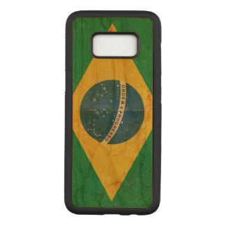 Funda Para Samsung Galaxy S8 De Carved Bandera del Brasil del Grunge del vintage