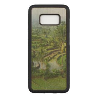 Funda Para Samsung Galaxy S8 De Carved Campos y palmeras del arroz en la isla de Bali