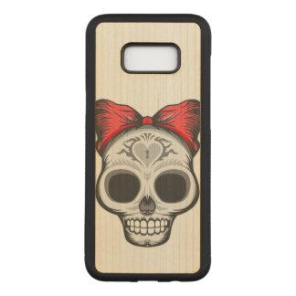 Funda Para Samsung Galaxy S8+ De Carved Cráneo del azúcar (arco rojo)