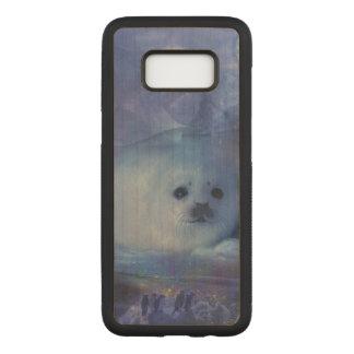 Funda Para Samsung Galaxy S8 De Carved Cría de foca en el hielo - paisaje marino hermoso