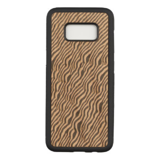 Funda Para Samsung Galaxy S8 De Carved Estampado de animales - cebra - caja de madera de