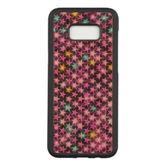 Funda Para Samsung Galaxy S8+ De Carved estrellas brillantes púrpuras coloridas hermosas