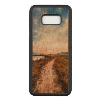 Funda Para Samsung Galaxy S8+ De Carved Galaxia S8 de Samsung+ Caja de madera de la cereza
