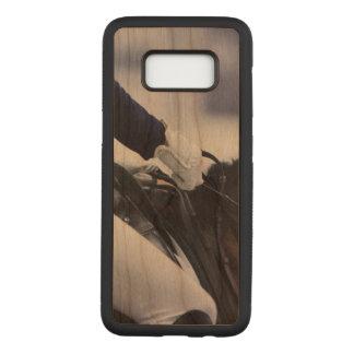 Funda Para Samsung Galaxy S8 De Carved Jinete del Dressage, madera de la cereza
